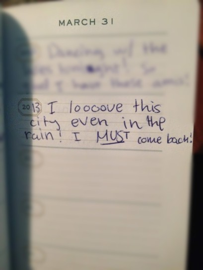enthusiastic journal entry