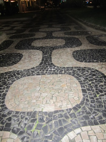 mom and I adored these elaborate sidewalks in Rio