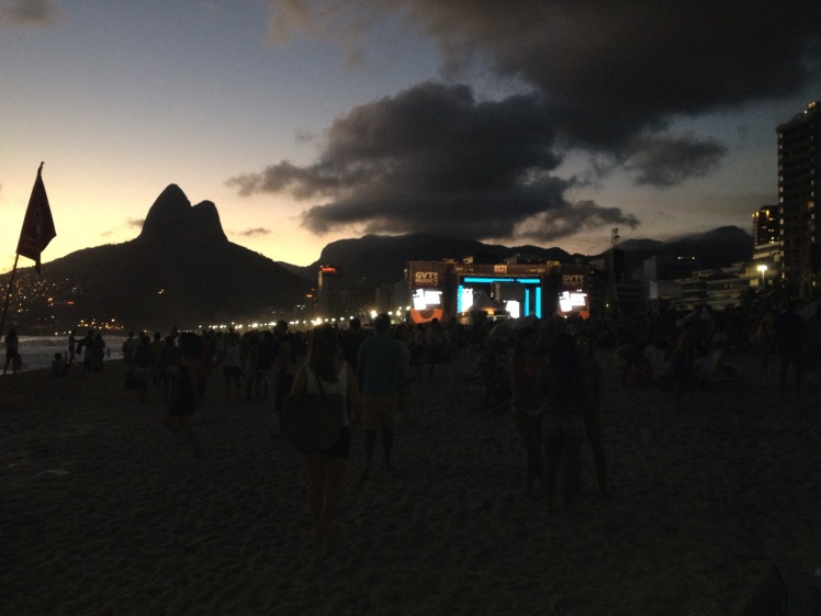 cazuza tribute concert on ipanema!